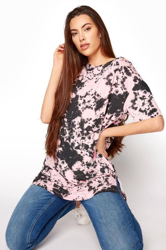 Tall  LTS Pink Tie Dye Oversized T-shirt