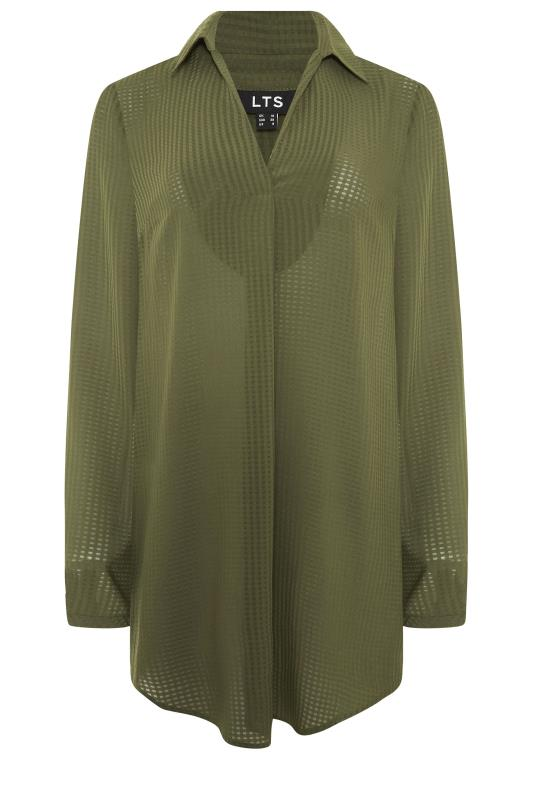LTS Khaki Textured Overhead Shirt_F.jpg