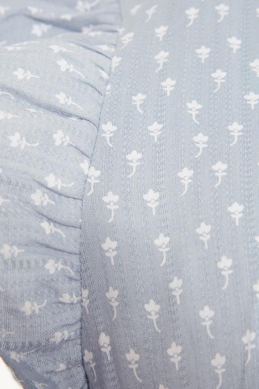 LTS Blue Tiered Frill Sleeve Tunic_S.jpg