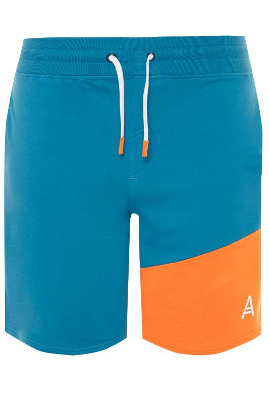 Jogger Shorts Tallas Grandes STUDIO A Blue Colour Block Shorts