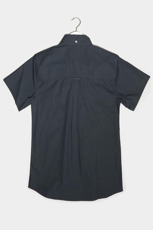 BadRhino Navy Cotton Poplin Short Sleeve Shirt
