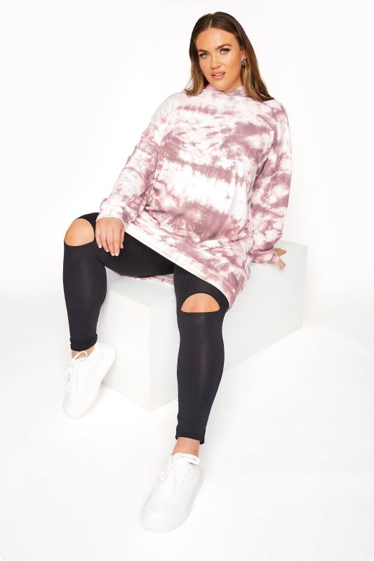 LIMITED COLLECTION Pink Tie Dye Longline Hoodie