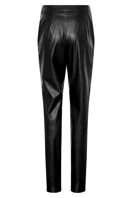 LTS Black Faux Leather Slim Leg Trousers_BK.jpg