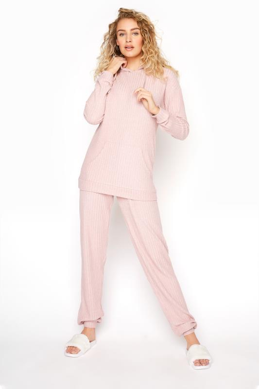 LTS Pink Ribbed Co-ord Joggers