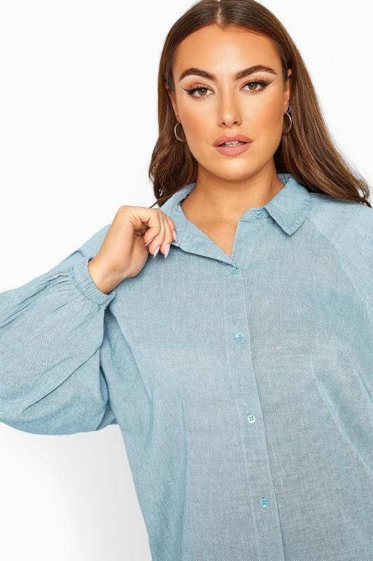 LIMITED COLLECTION Blue Chambray Oversized Shirt