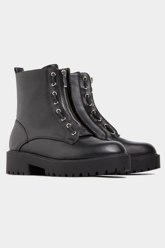 LIMITED COLLECTION - Chunky boots van imitatieleer in zwart