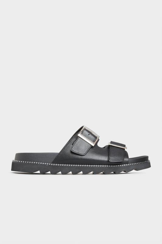 LIMITED COLLECTION Black Stud Buckle Sandal In Extra Wide Fit_A.jpg