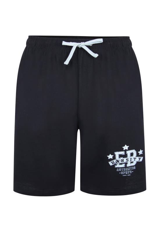 dla puszystych ED BAXTER Black Varsity Shorts