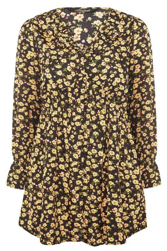 LIMITED COLLECTION Yellow Floral Frill Blouse
