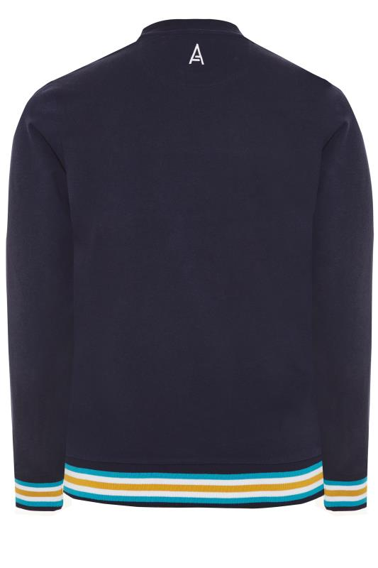 STUDIO A Navy Colour Block Sweatshirt