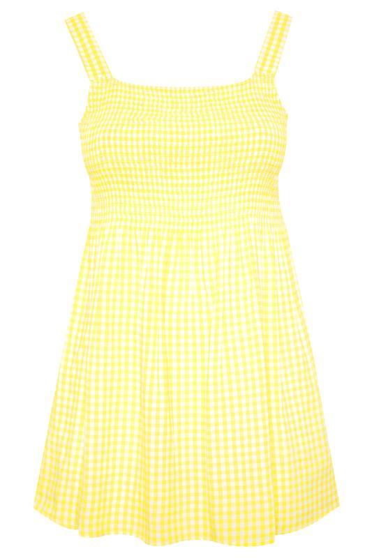 Yellow Shirred Gingham Vest_F.jpg