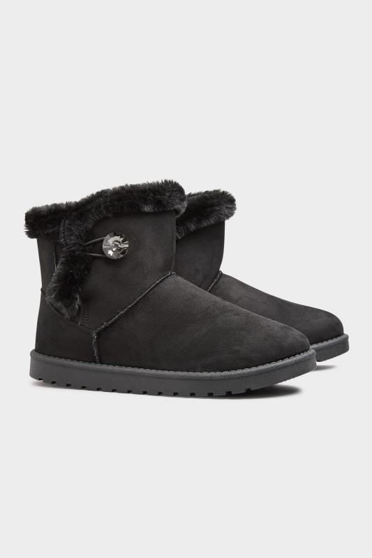 Black Gem Button Fur Boots in Regular Fit_B.jpg