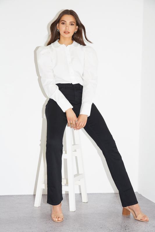 Tall  Black Ultra Stretch Bootcut Jeans