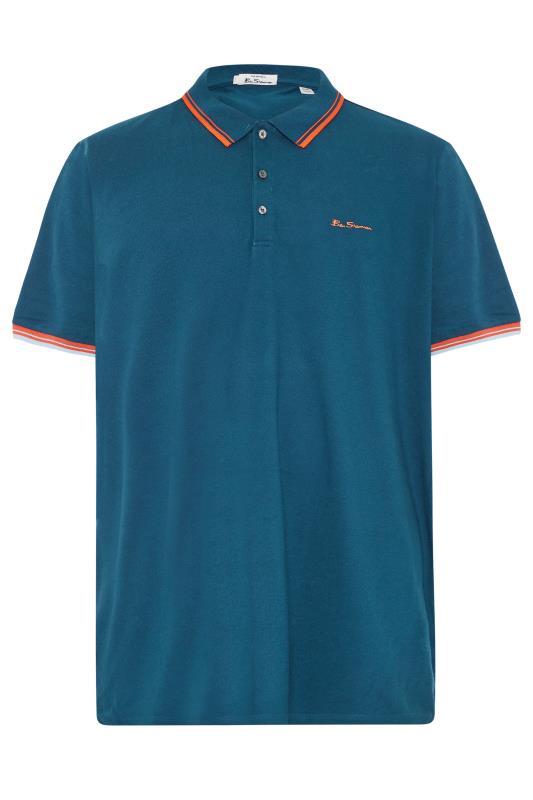BEN SHERMAN Blue Tipped Polo Shirt