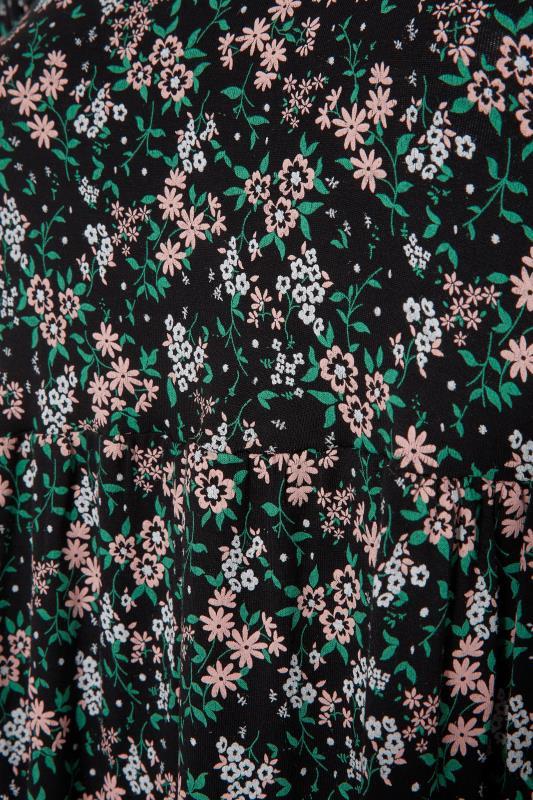 Black Floral Puff Sleeve Midaxi Dress_S.jpg
