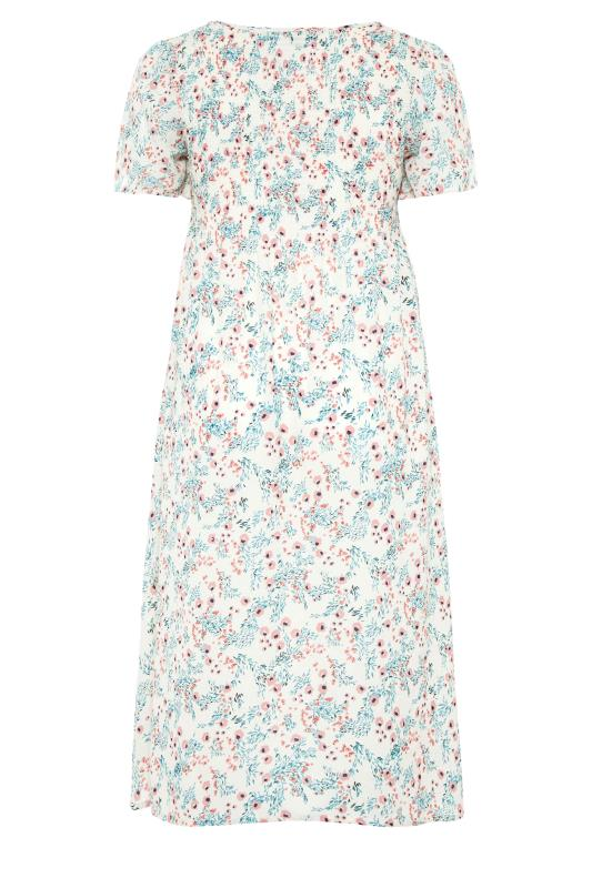 LIMITED COLLECTION White Floral Shirred Maxi Dress_bk.jpg