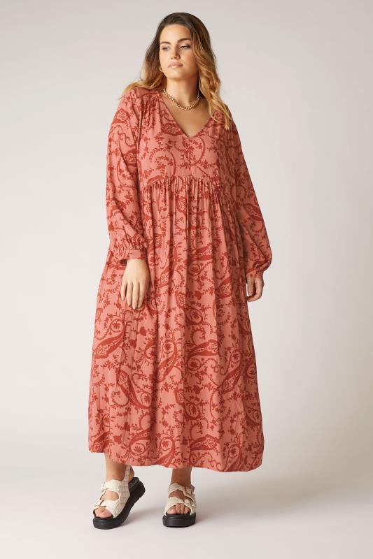 Großen Größen  THE LIMITED EDIT Pink Paisley Boho Maxi Dress