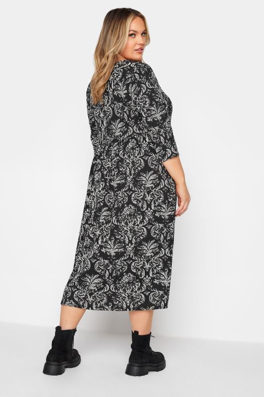 LIMITED COLLECTION Black Paisley Print Midaxi Dress_C.jpg
