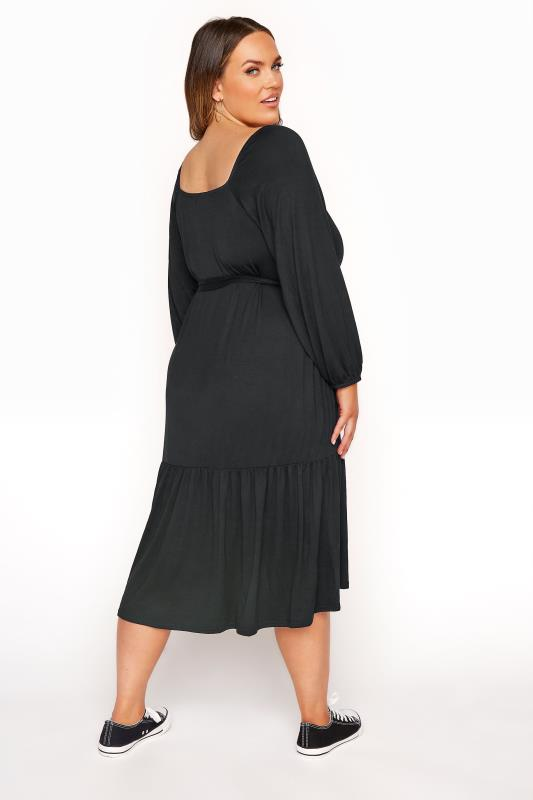 LIMITED COLLECTION Black Millkmaid Tiered Midi Dress_C.jpg