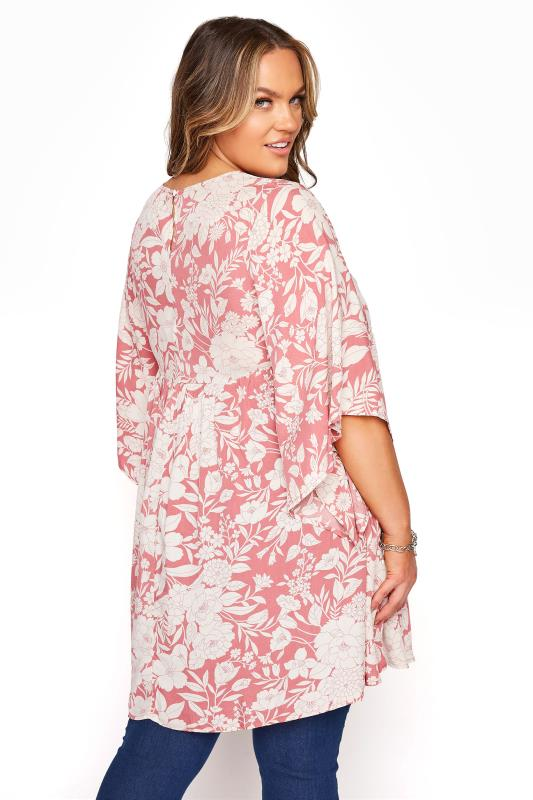 BUMP IT UP MATERNITY Pink Floral Smock Tunic_C.jpg