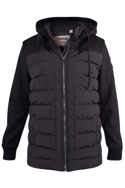 D555 Black Hampshire Hooded Quilted Jacket