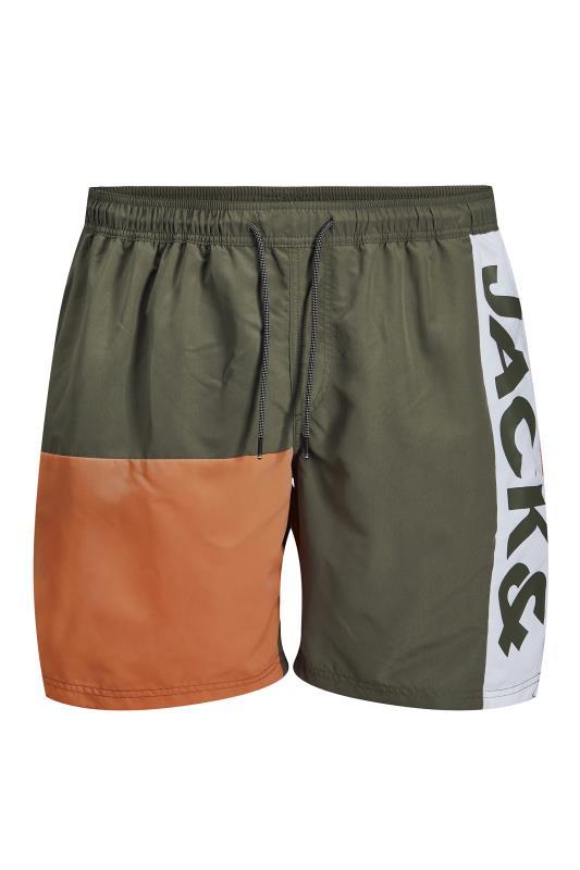 Men's  JACK & JONES Sage Green Bali Swimshorts