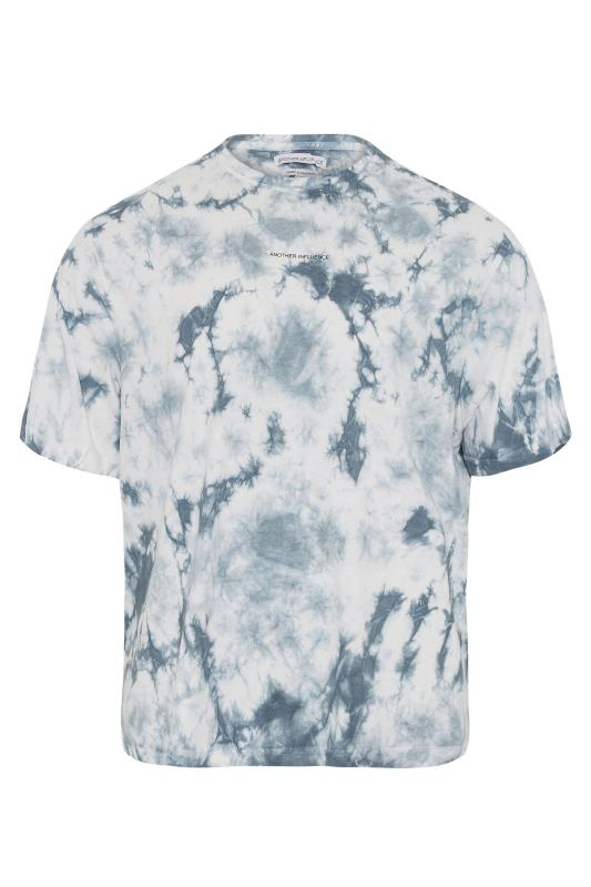 Plus Size  ANOTHER INFLUENCE Blue Tie Dye T-Shirt