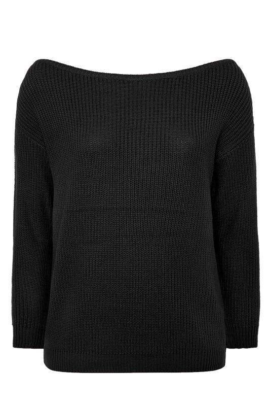 Black Bardot Knitted Jumper_F.jpg
