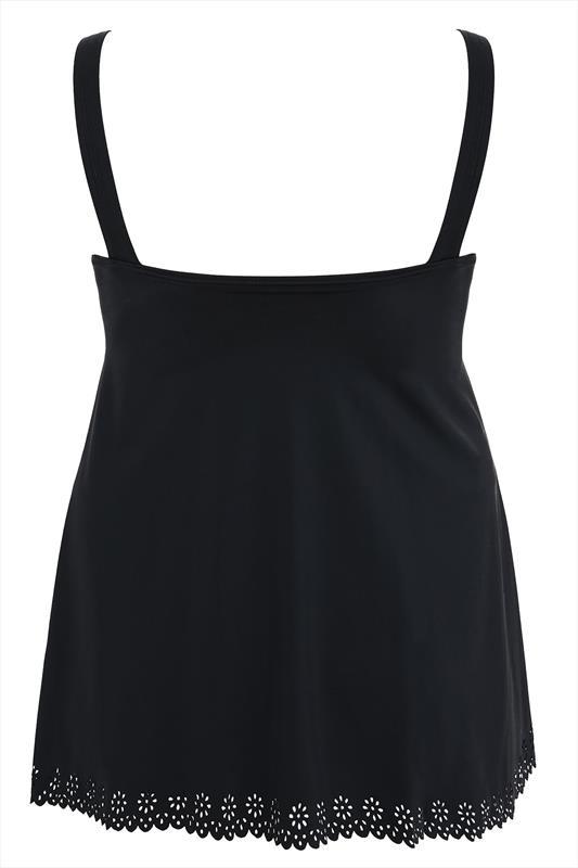 Black Cut Out Detail Swim Dress