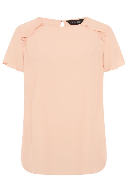 Peach Angel Sleeve Frill Shoulder Tunic_f.jpg
