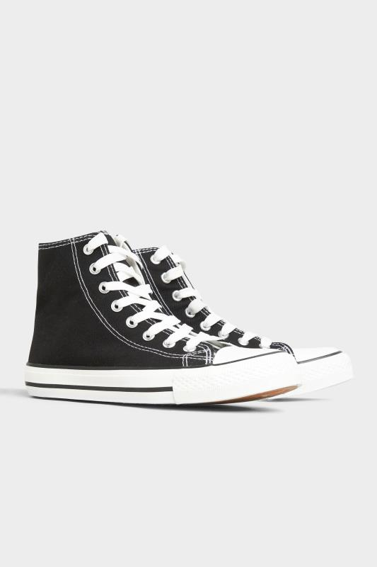 Black Canvas High Top Trainers In Wide Fit_B.jpg