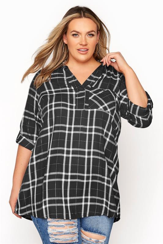Black Check Print Overhead Shirt_A.jpg