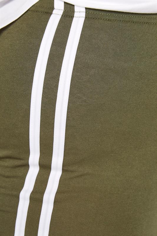 Khaki Side Stripe Cycle Shorts_D.jpg