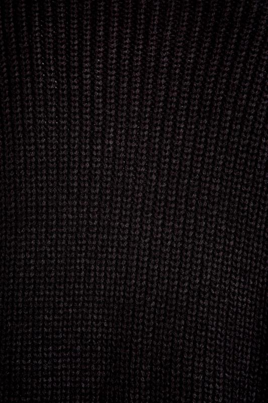 Black Balloon Sleeve Knitted Cardigan_S.jpg