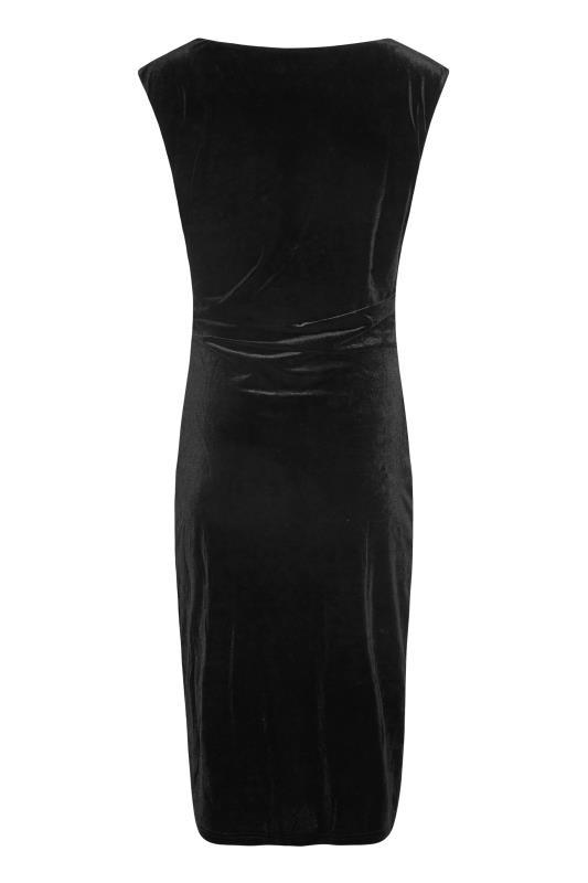 LTS Black Cowl Neck Velvet Dress_BK.jpg