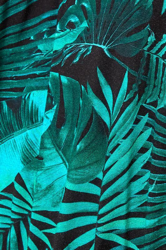 Green Tropical Print Cold Shoulder Midaxi Dress_S.jpg