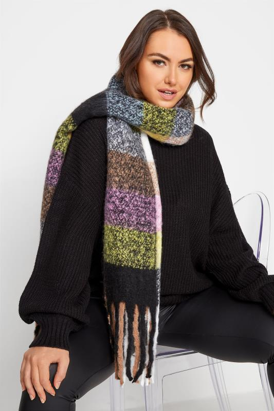 Tall  Yours Multi Check Print Super Soft Scarf