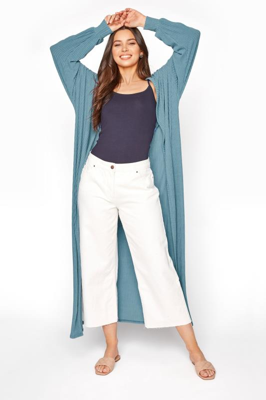 Tall Jeans Ivory Wide Leg Cropped Jeans