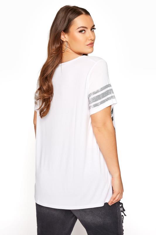 White Printed V-Neck T-Shirt_C.jpg