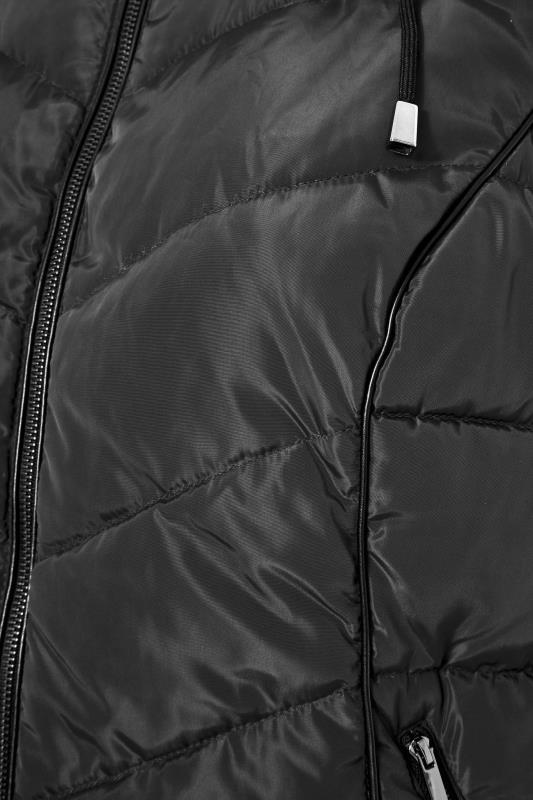 Black Faux Fur Hood Padded Gilet_S.jpg