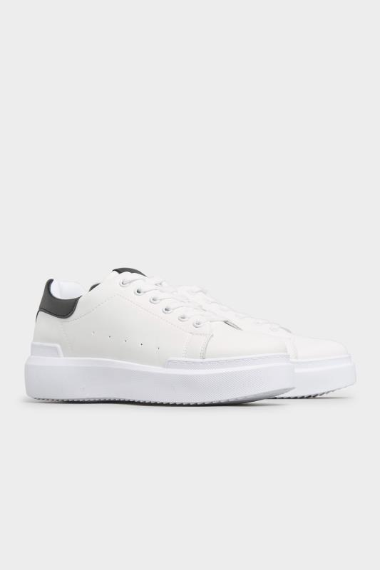 LIMITED COLLECTION White and Black Flatform Trainer In Wide Fit_B.jpg