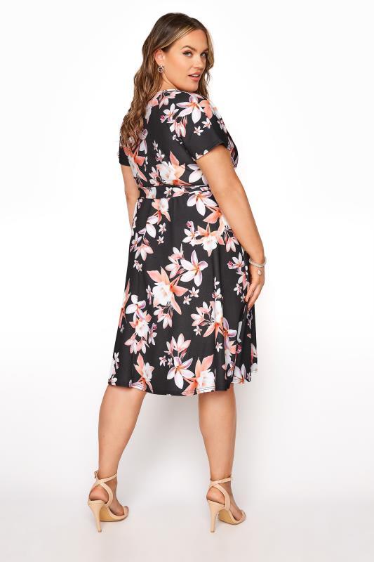 YOURS LONDON Black Floral Wrap Midi Dress_C.jpg