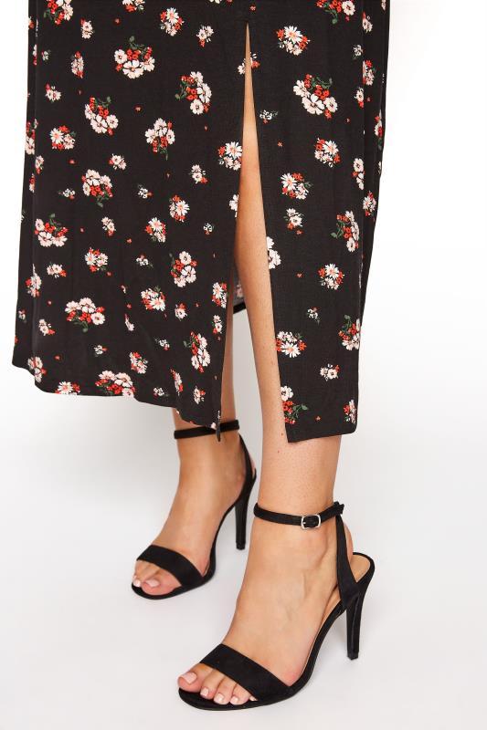 YOURS LONDON Black Floral Side Split Midaxi Dress_E.jpg