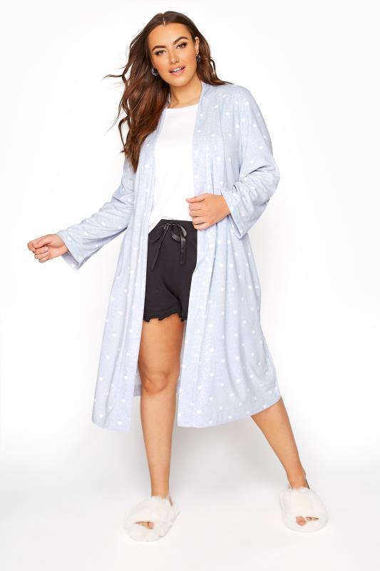 Powder Blue Flannel Fleece Heart Dressing Gown_B.jpg