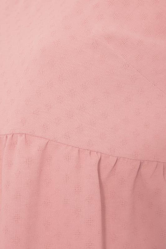 BUMP IT UP MATERNITY Pink Dobby Puff Sleeve Smock Top_S.jpg