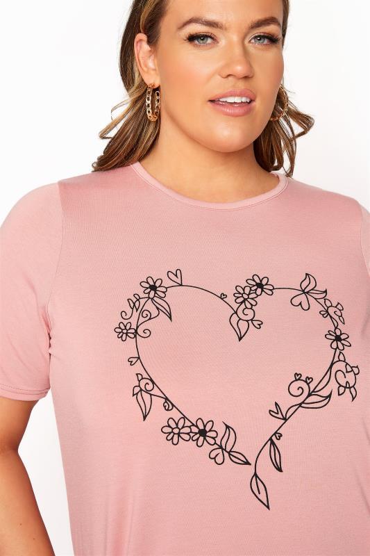 LIMITED COLLECTION Blush Pink Heart Print T-Shirt_D.jpg