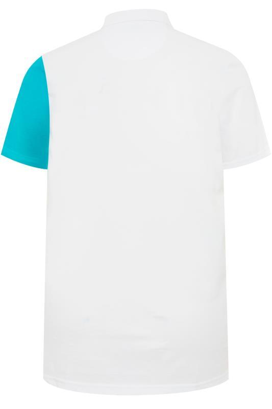 STUDIO A White Colour Block Polo Shirt
