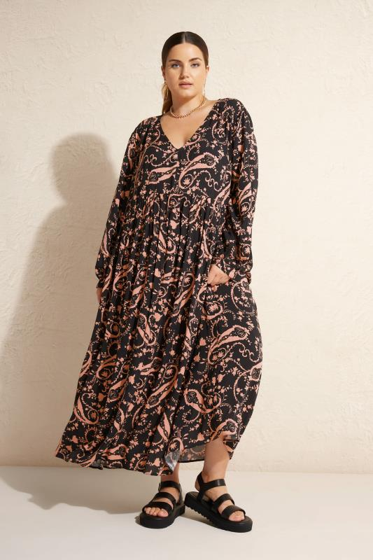 THE LIMITED EDIT Black Paisley Boho Maxi Dress_L1.jpg