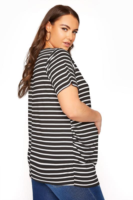 BUMP IT UP MATERNITY Black Stripe Short Sleeve T-Shirt_C.jpg