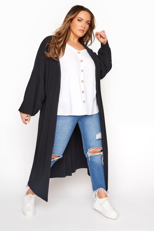 Plus Size  LIMITED COLLECTION Black Long Cardigan